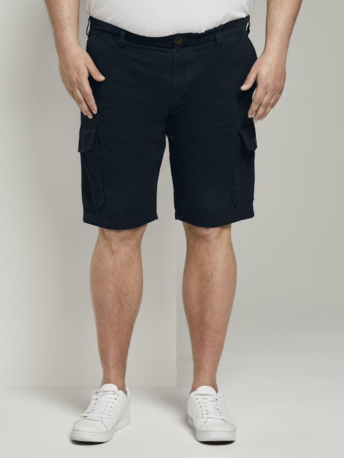 Tom Tailor Men Plus Cargo Morris Relaxed Bermuda Shorts, Sky Captain Blue