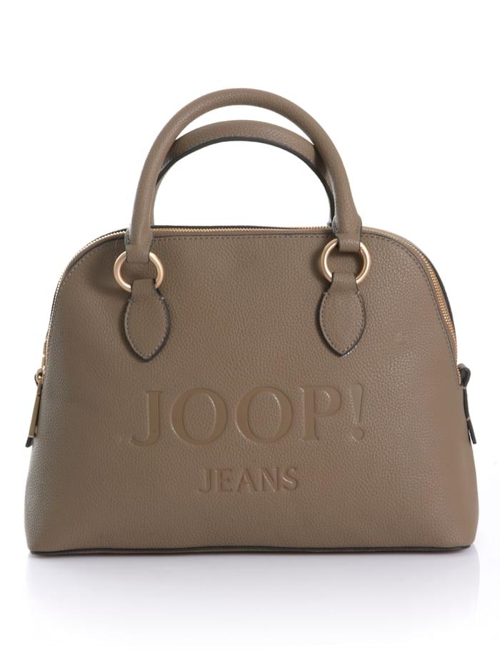 JOOP! JEANS Tasche mit großer Prägung, Taupe