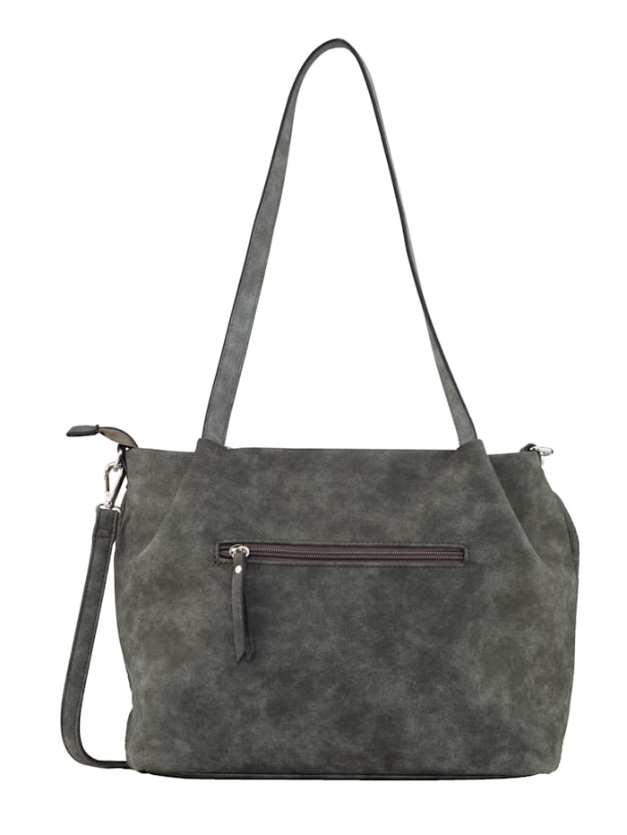 Handbag made from an embossed fabric 2-piece