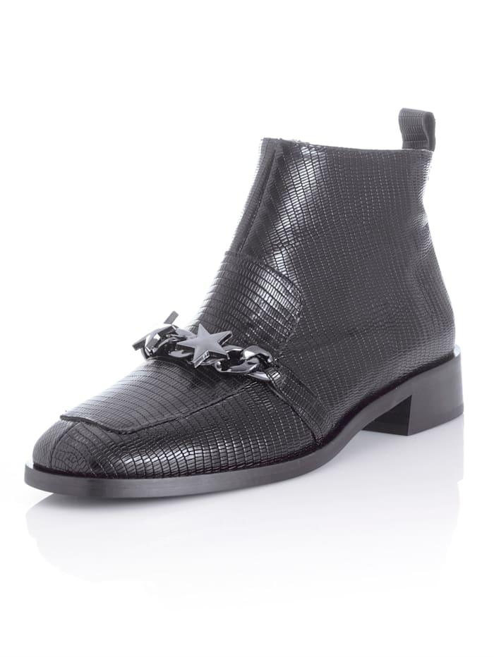 Alba Moda Boot van rundleer, Zwart