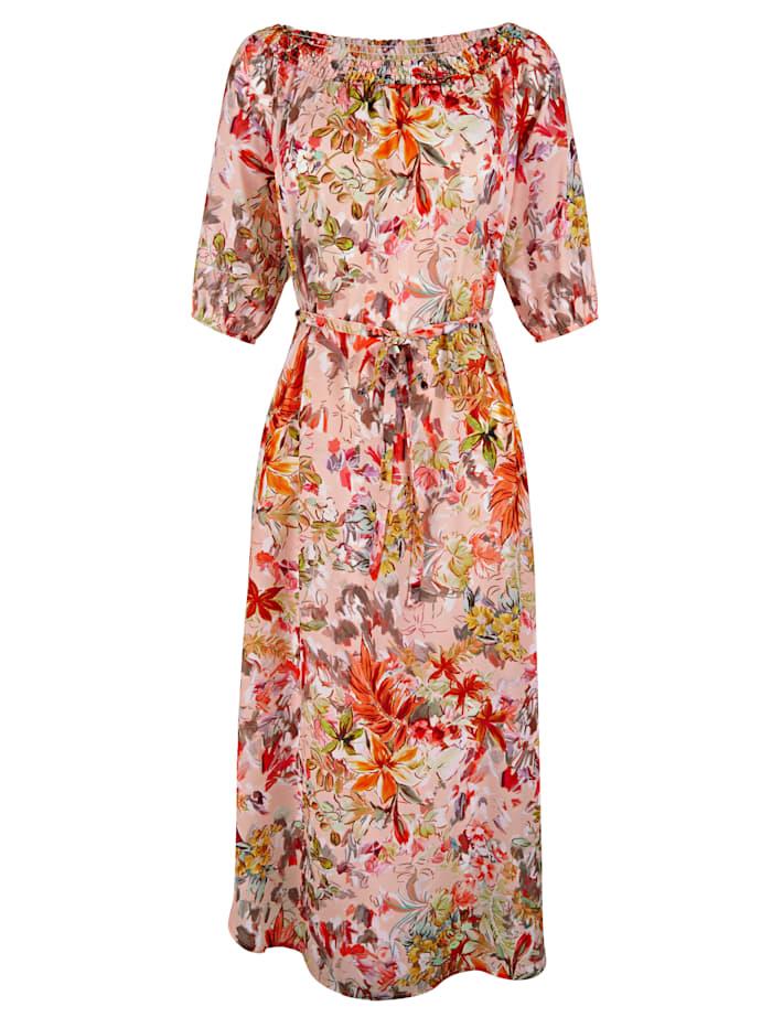 AMY VERMONT Kleid mit floralem Druck, Apricot/Rosé/Orange