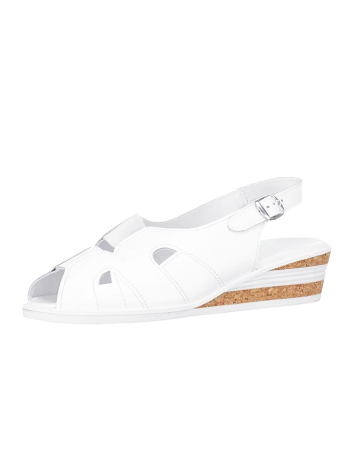 Sandalette mit sommerlichen Durchbrüchen