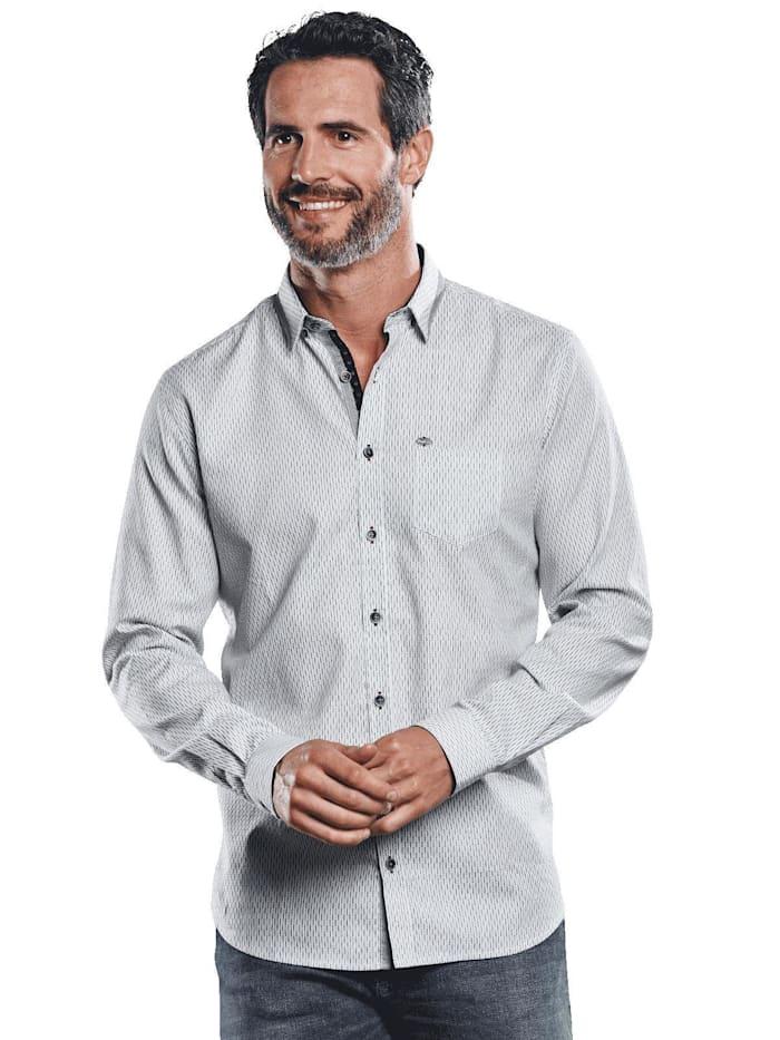 Engbers Hemd mit feiner Struktur, Hellgrau