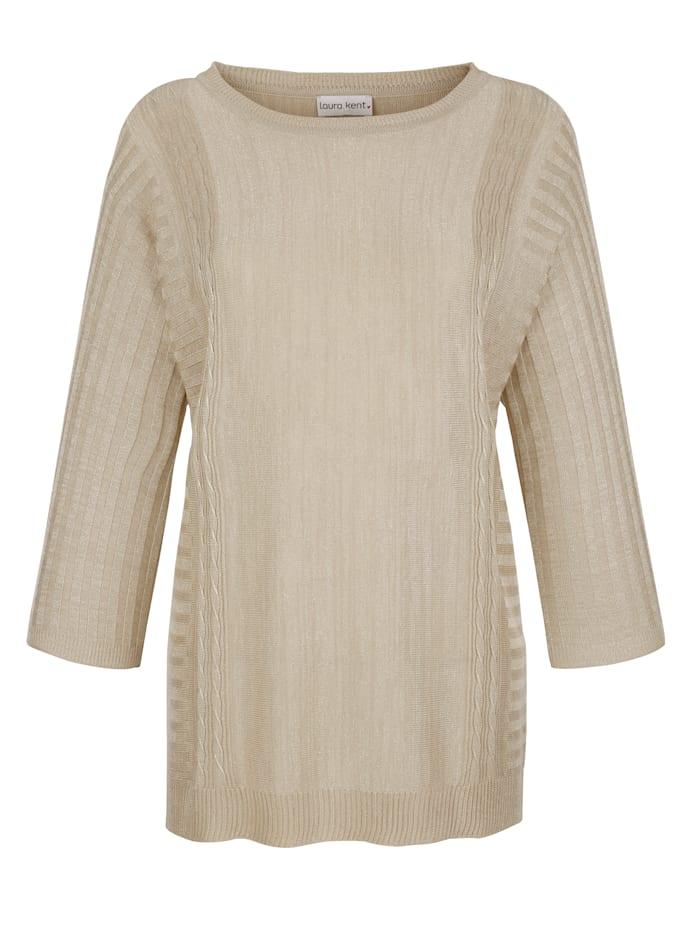 Pullover mit eingearbeiteten Lurexfäden