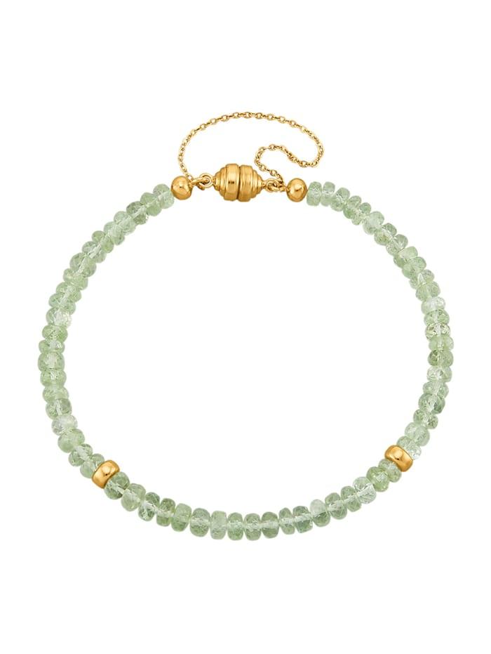 Diemer Farbstein Armband mit Tsavorit, Grün