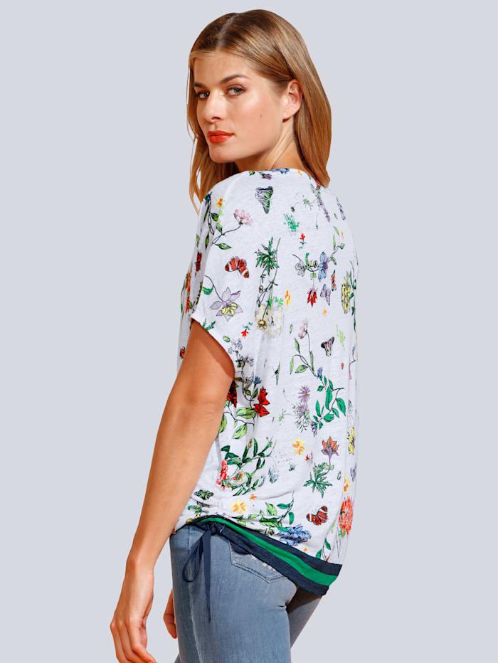 Shirt im Blumendruck allover