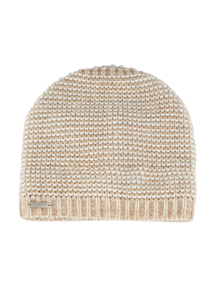 Seeberger Knitted hat, Ecru/Beige