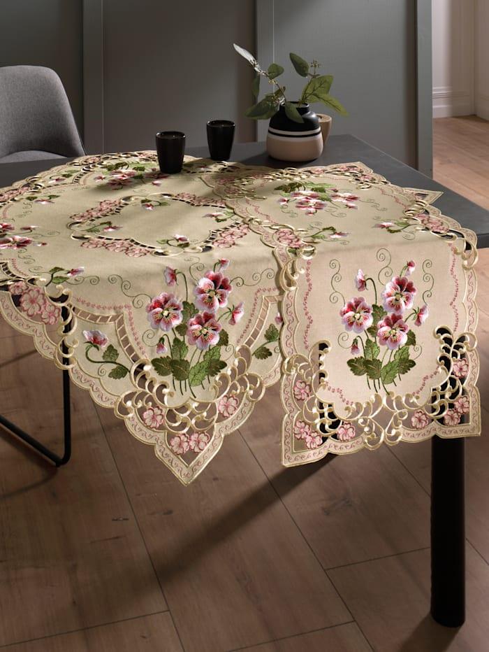 Webschatz Linge de table 'Rebecca', Rose/Crème