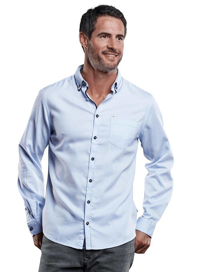Engbers Edel glänzendes Langarmhemd, Hellblau