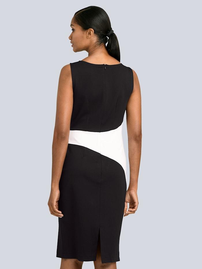 Kleid mit Einsatz in der Taille in Kontrastfarbe
