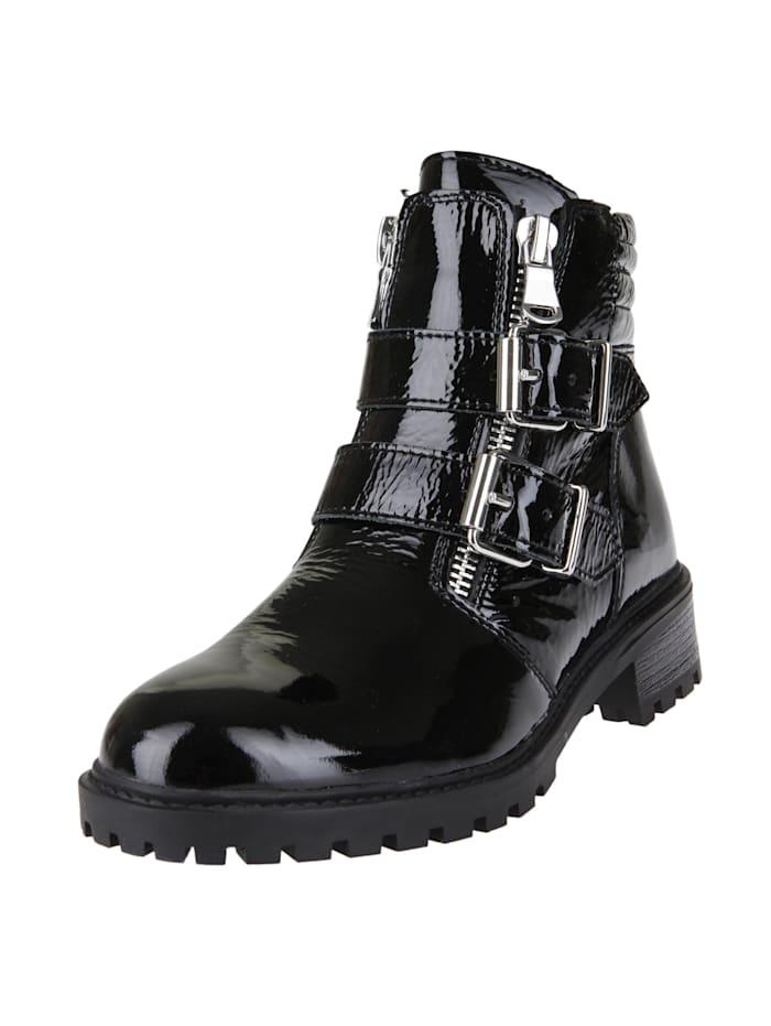 COX Stiefelette Biker-Boots, schwarz