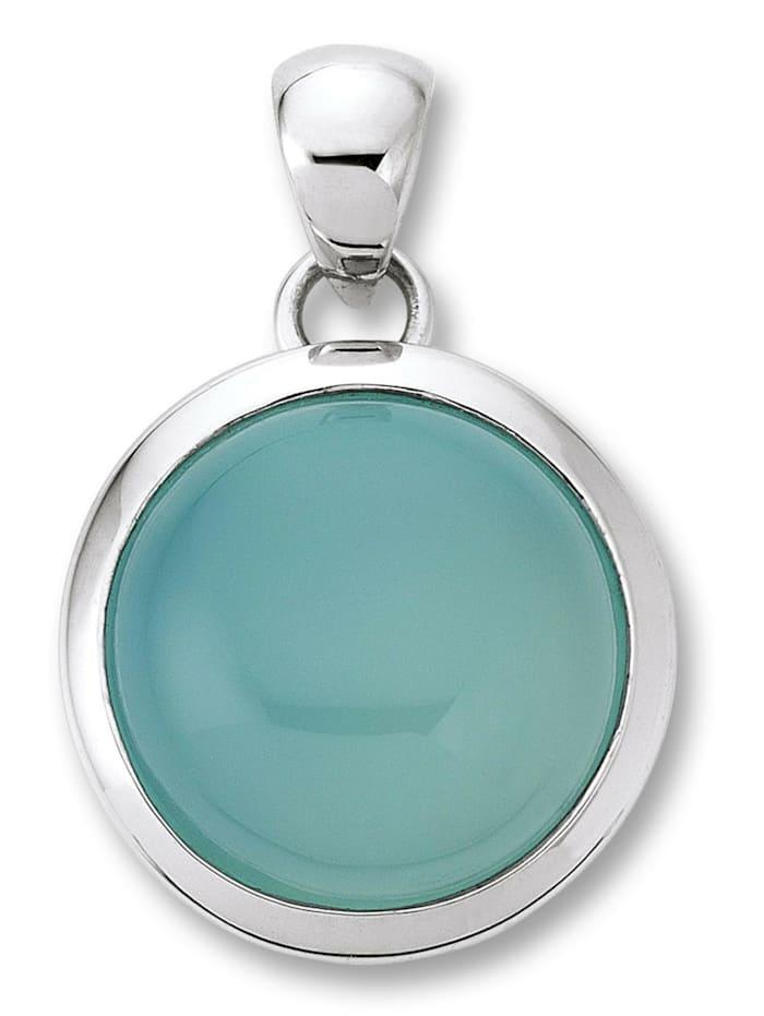 One Element Damen Schmuck Anhänger aus 925 Silber Chalcedon hellblau, silber