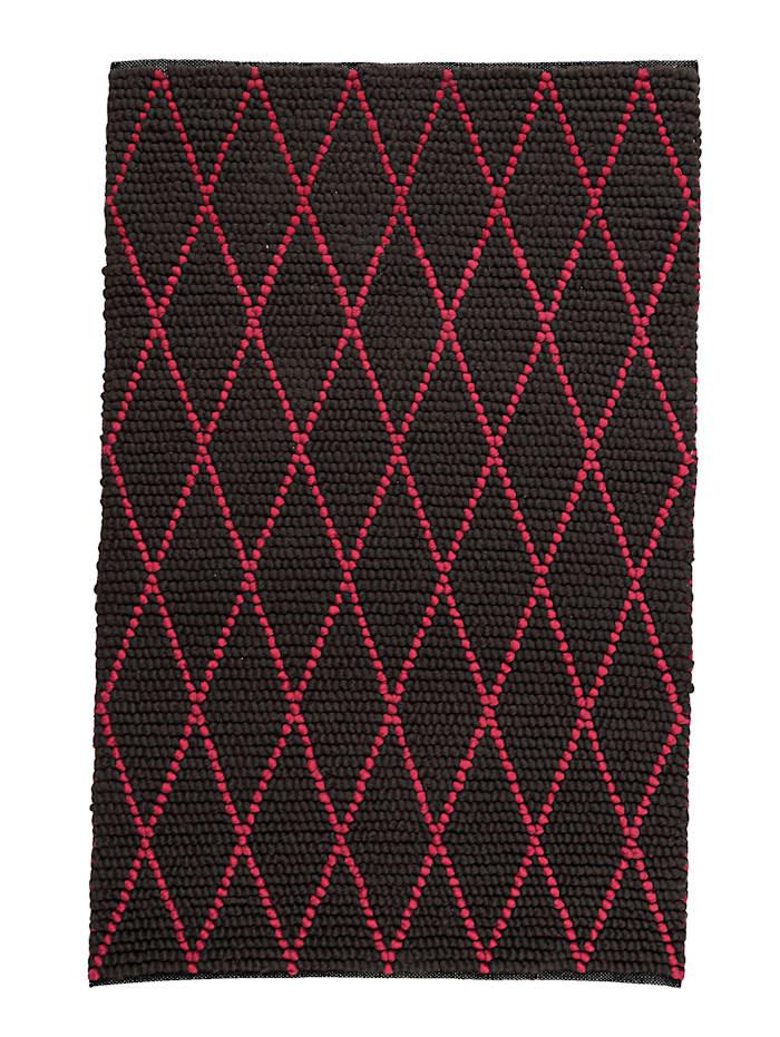 IMPRESSIONEN living Teppich, Grau/Pink