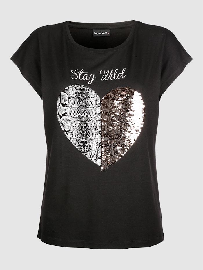 Tričko s otočnými flitrami