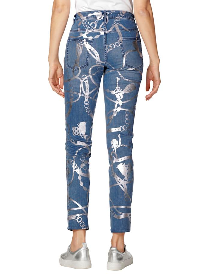 Jeans mit Folien-Druck