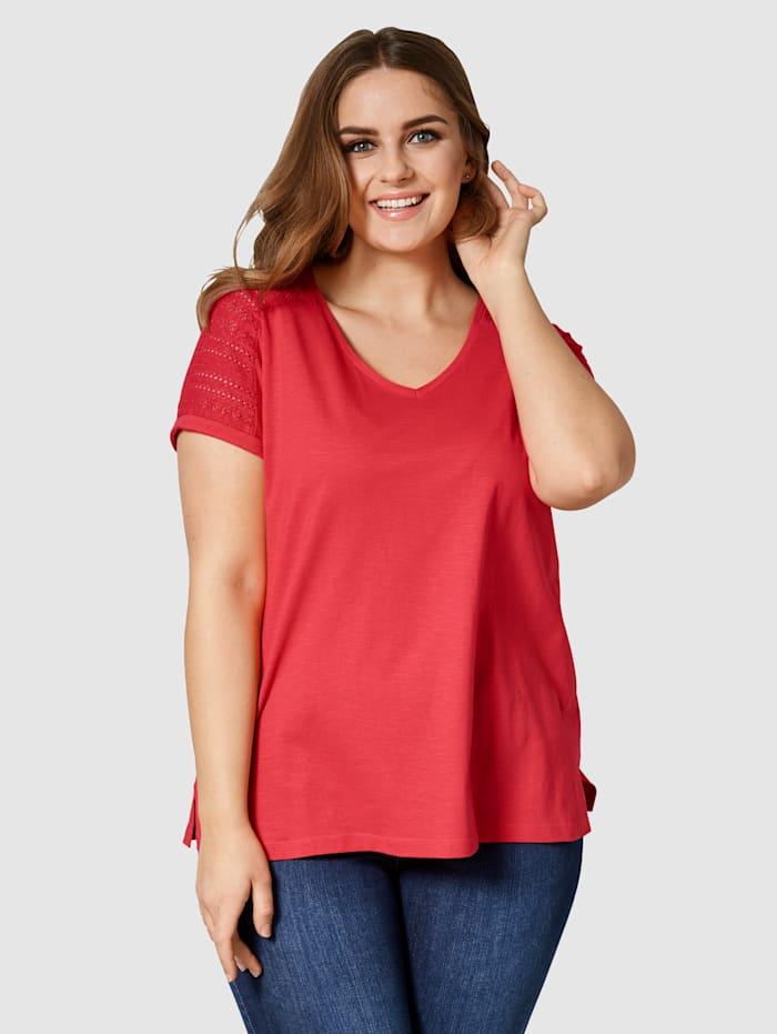Janet & Joyce T-shirt en pur coton, Rouge