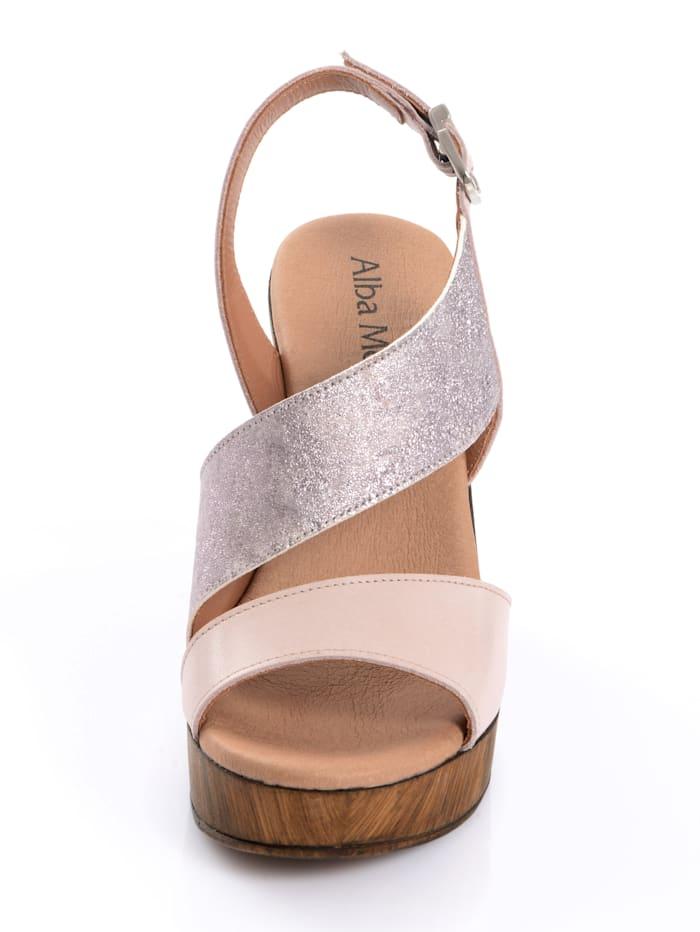Sandalette im Optikenmix