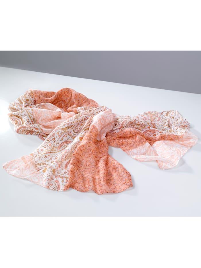 Sjaaltje met glitterelementen, Roze