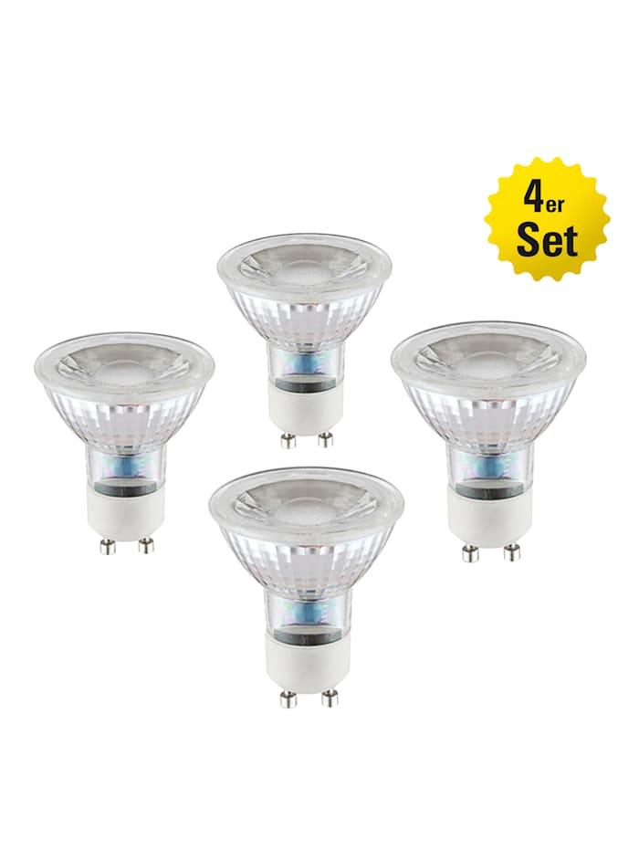 Näve 4er Set LED-LeuchtmittelGU10/5W, weiß