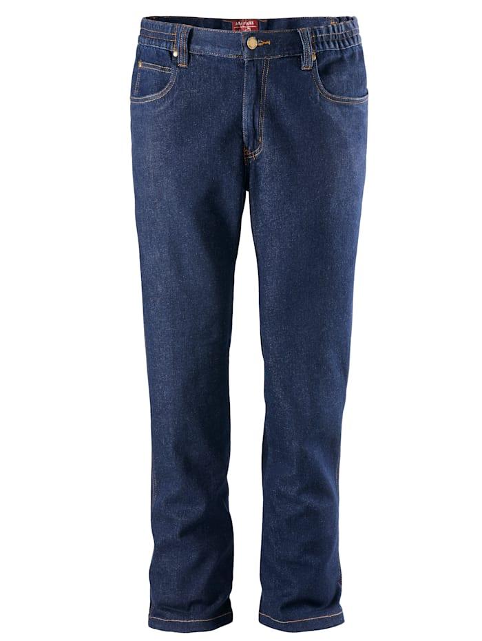 Men Plus Stretch-Jeans, Dark blue