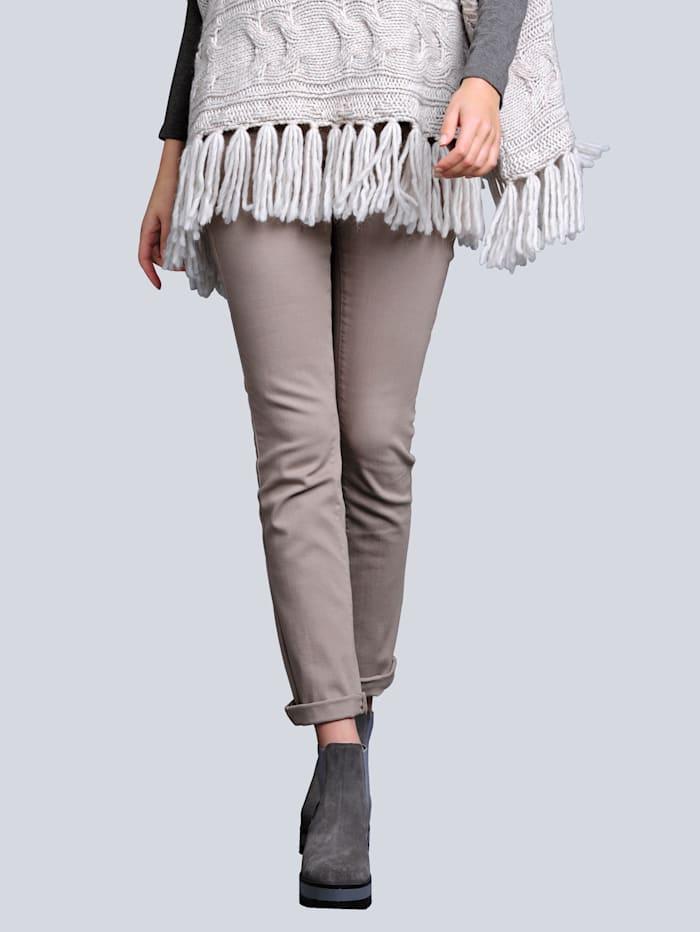 Alba Moda Jeans mit aufwendiger Paillettenverzierung, Beige