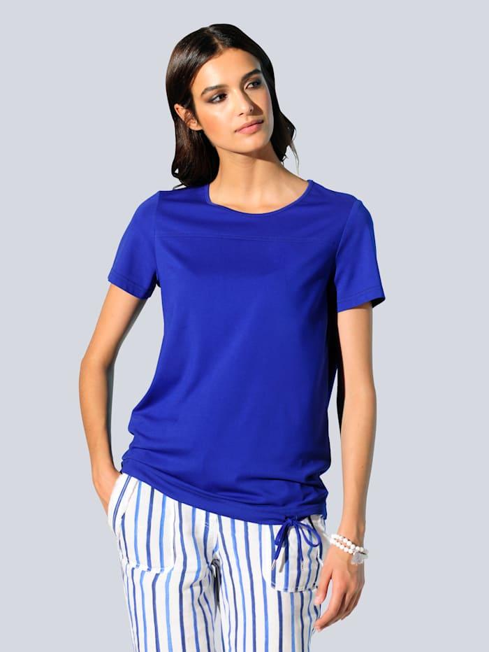 Alba Moda Shirt van een soepelvallende viscosemenging, Royal blue