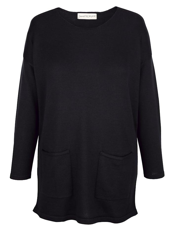 Pullover mit Taschen im Vorderteil