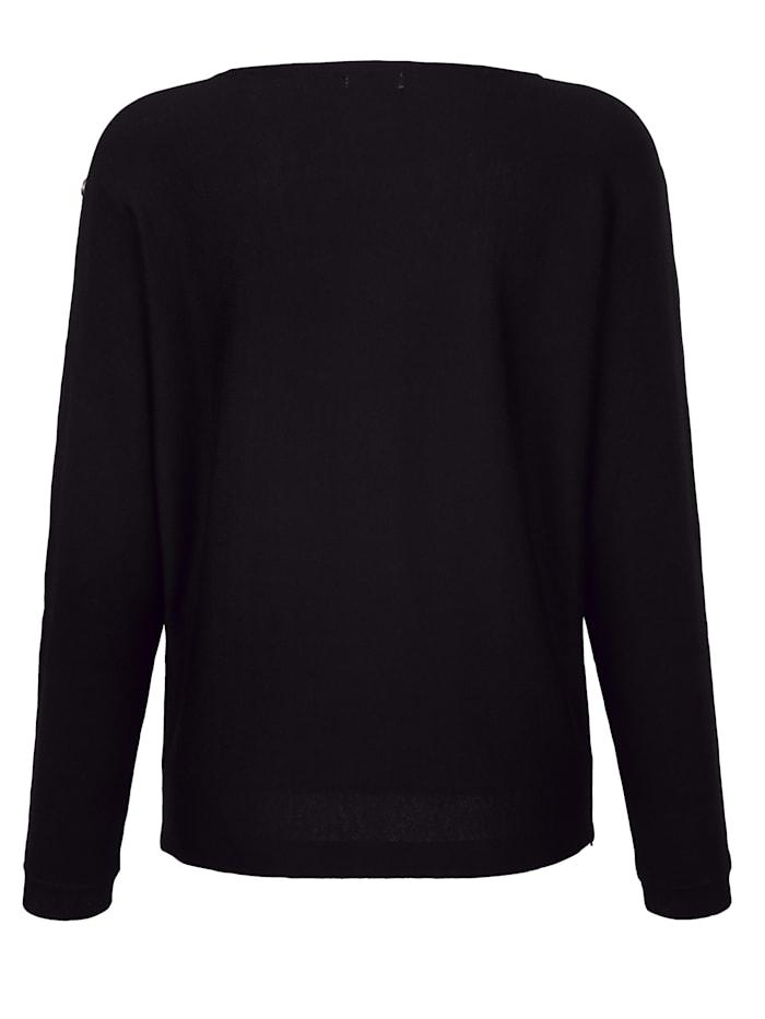 Pullover mit effektvollen Schmucksteinchen