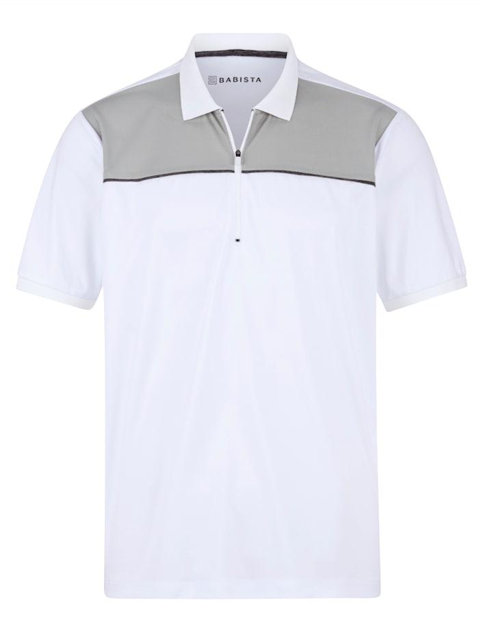 BABISTA Poloskjorte med glidelås, Hvit