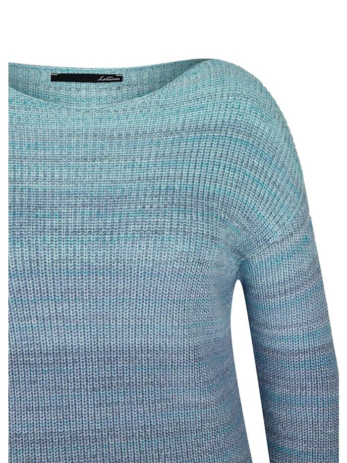 Pullover mit Farbverlauf und U-Boot-Ausschnitt