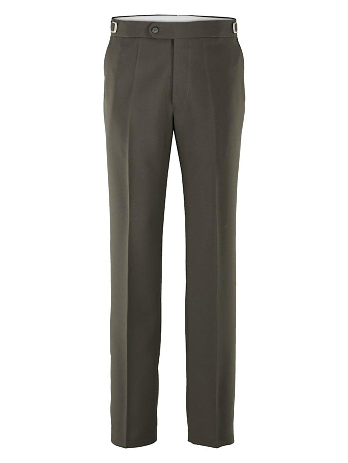 Roger Kent Pantalon à taille ajustable, Olive