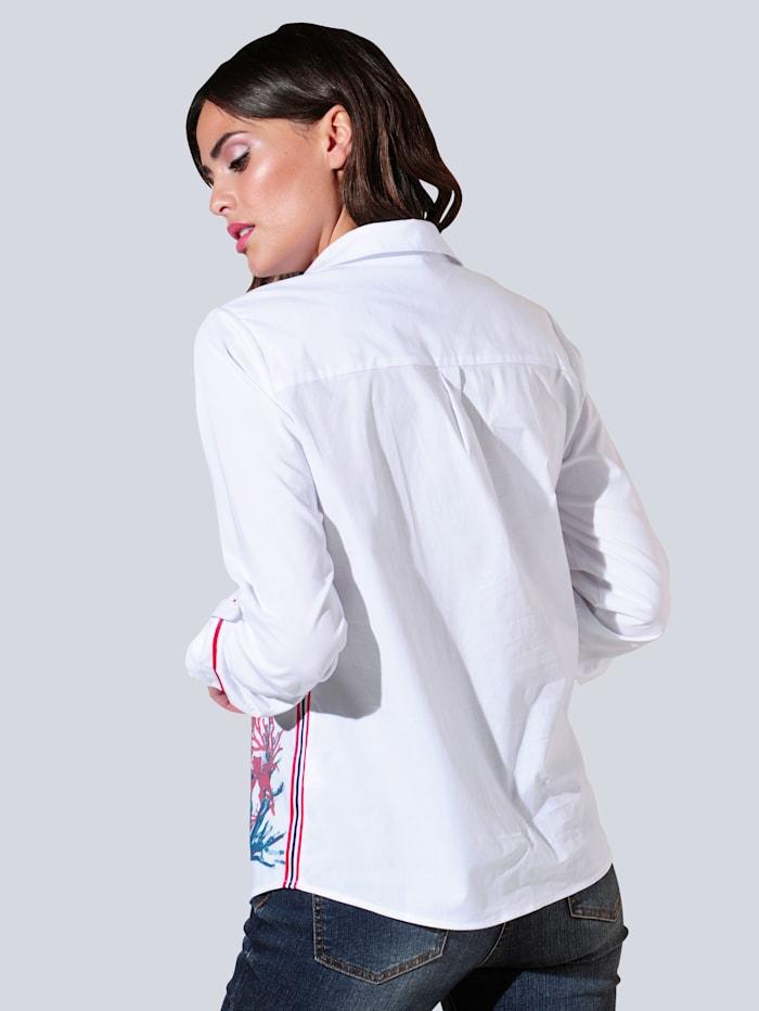Bluse im exklusiv designten Print