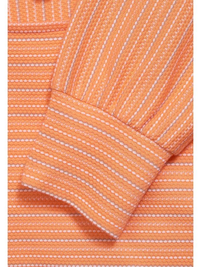 Struktur-Shirt mit Streifen