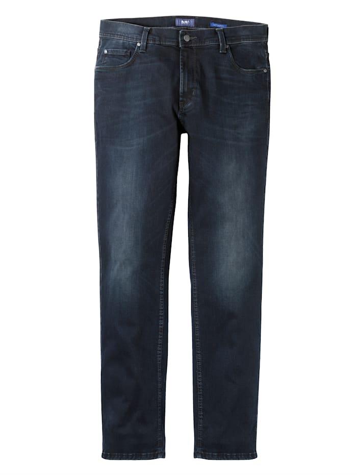 Pioneer Jeans i stretchigt material, Blå/Svart
