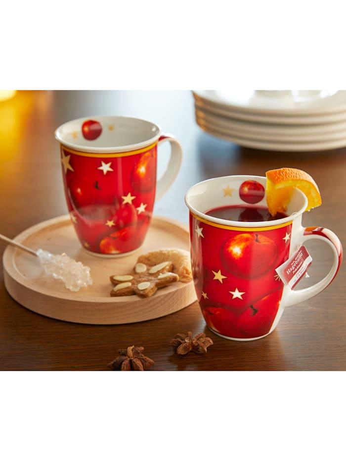 """Lot de 2 tasses """"Pomme d'hiver"""""""