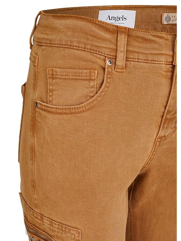 Jeans ,Skinny Cargo Shine' mit Glitzersteinen