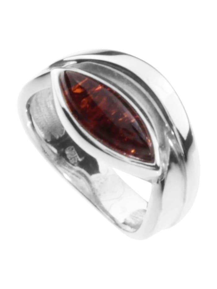 OSTSEE-SCHMUCK Ring - Gudrune - Silber 925/000 - Bernstein, silber
