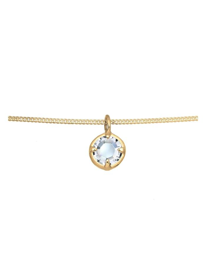 Halskette Choker Basic Stein Kristall 925 Silber
