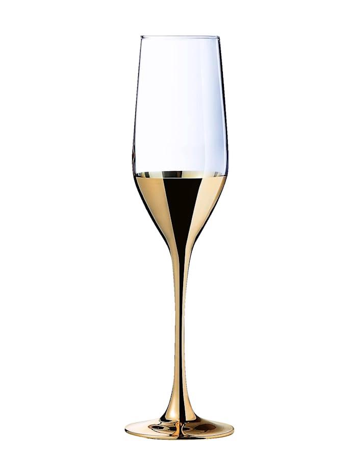 Sett med 4 champagneglass -Golden Days-
