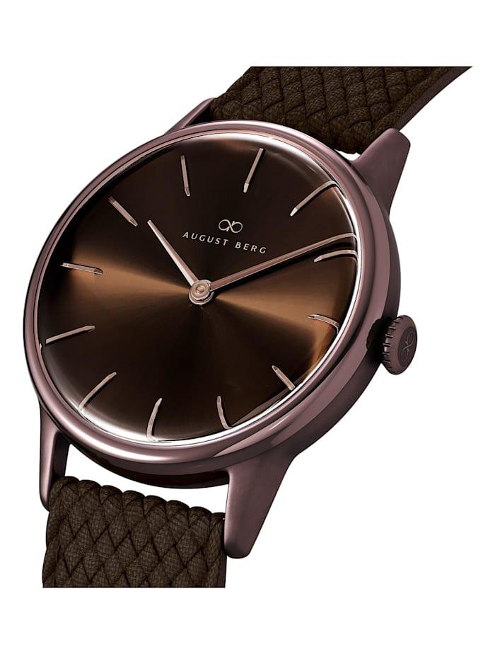 Uhr Serenity Cuppa Brown Dark Brown Perlon 32mm