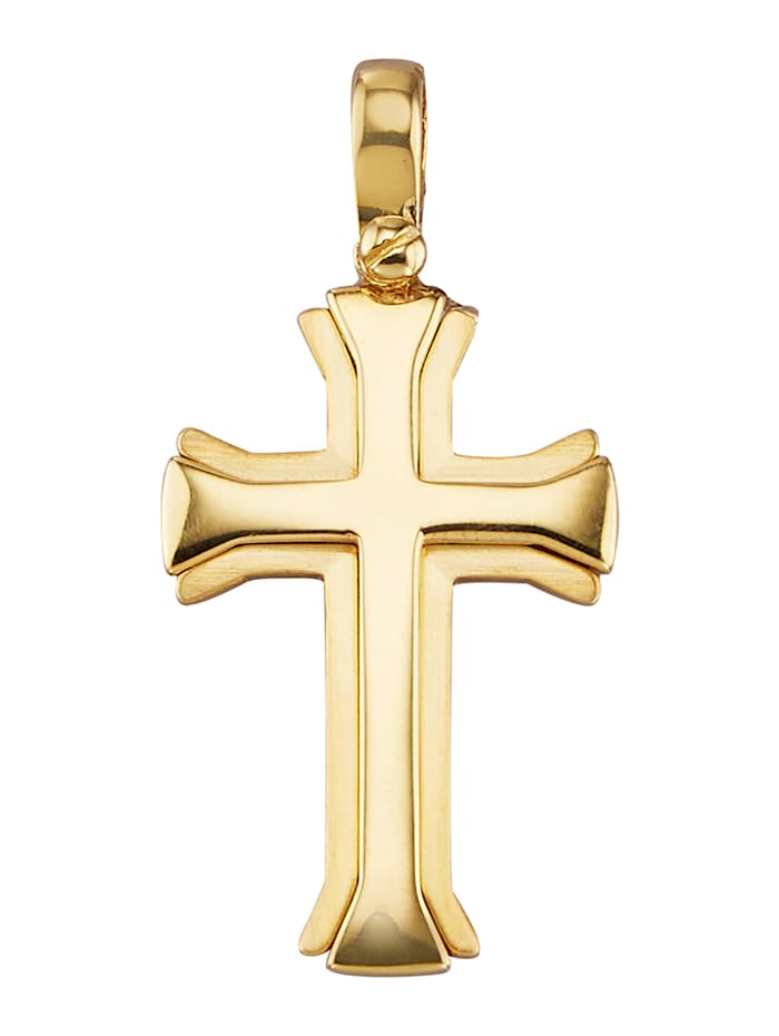 Diemer Gold Hanger Kruis, Geelgoudkleur