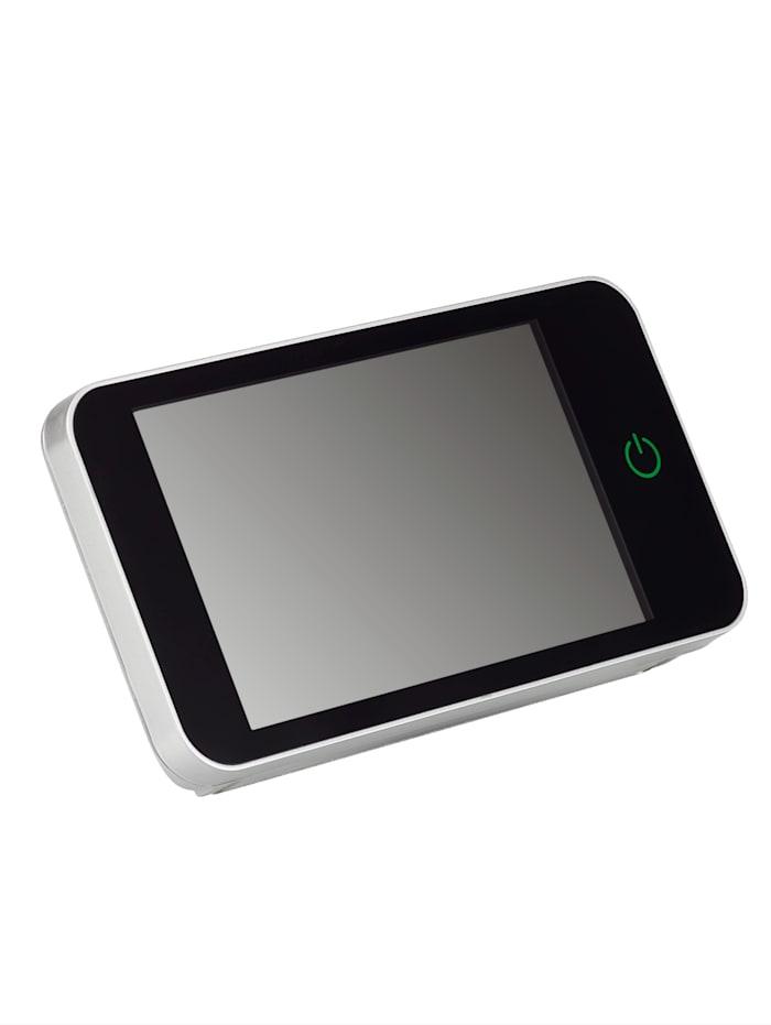Digitaler Türspion mit 2,0 MP Kamera, 160° Weitwinkel & 10,1 cm HD-Farbdisplay, schwarz/ silberfarben