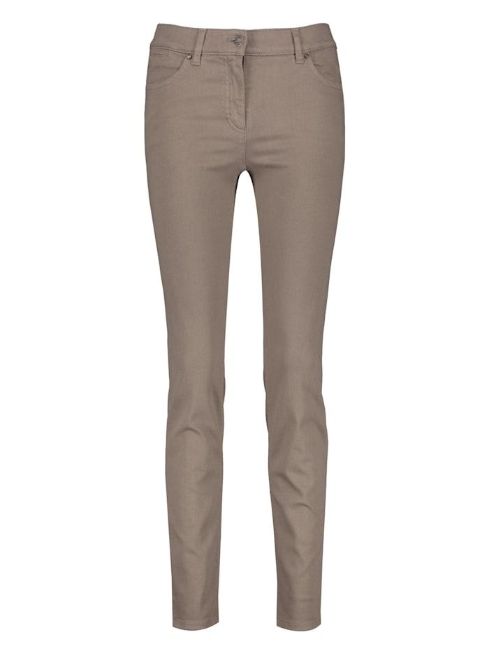 Gerry Weber Jeans SkinnyFit4me Kurzgröße organic cotton, Taupe