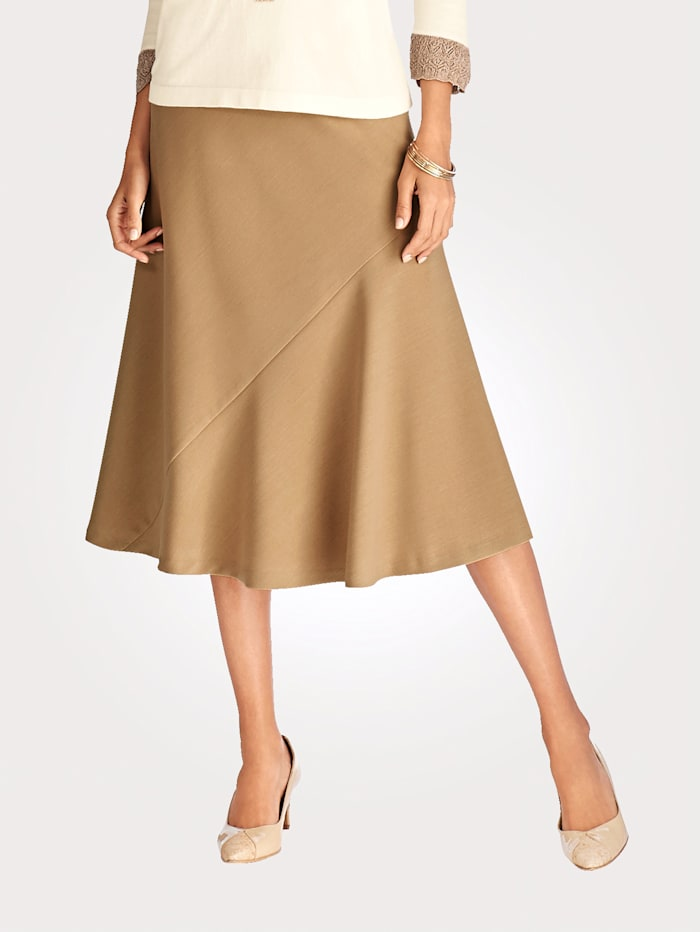 Artigiano Skirt in a two-way stretch fabric, Sand