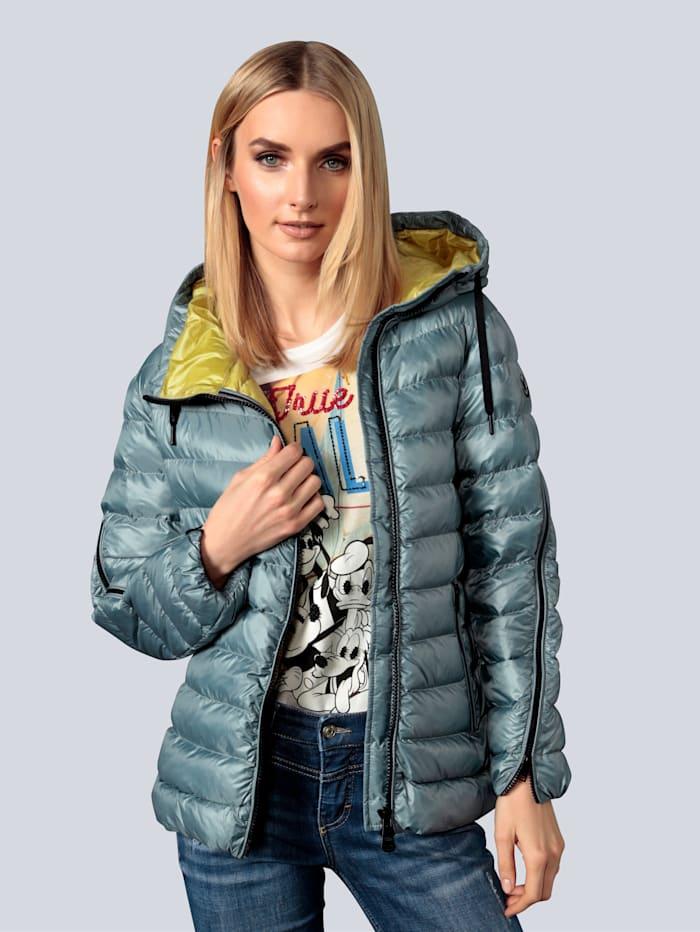 Fuchs Schmitt Jacke mit kontrastfarbenen Reißverschlüssen, Eisblau