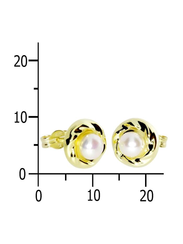 Ohrstecker - Ina - Gold 333/000 - Zuchtperle