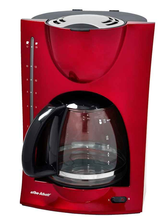 Kalorik Design Kaffeeautomat im modernen metallic rot, rot