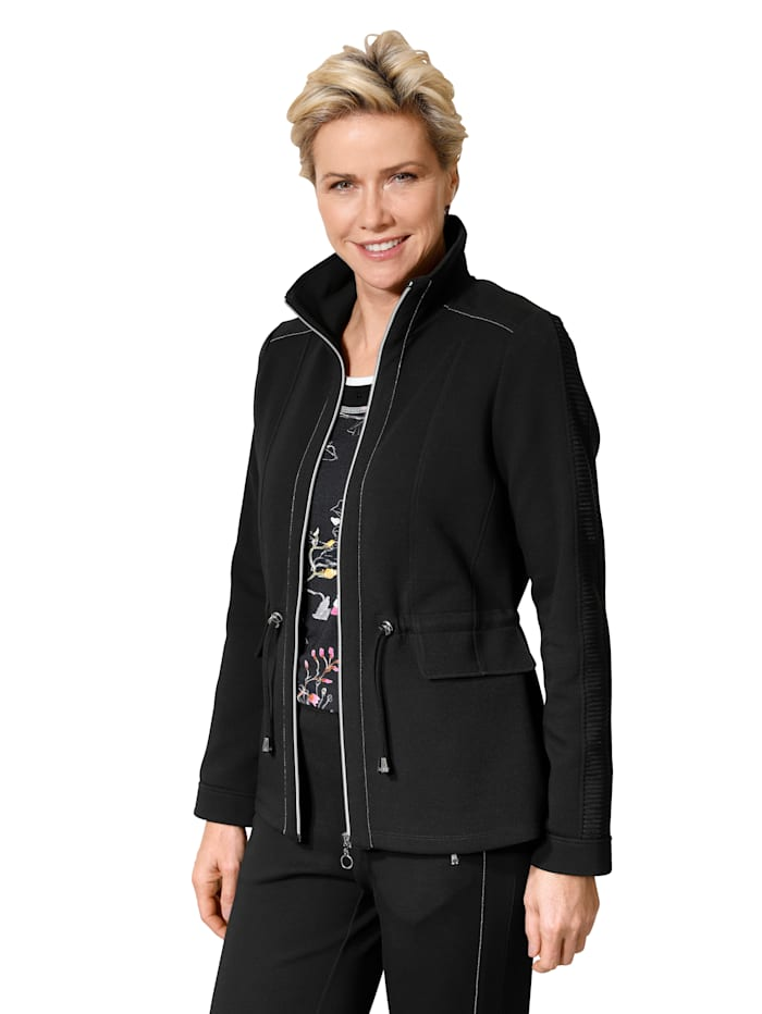 Jacket with silver-tone detailing