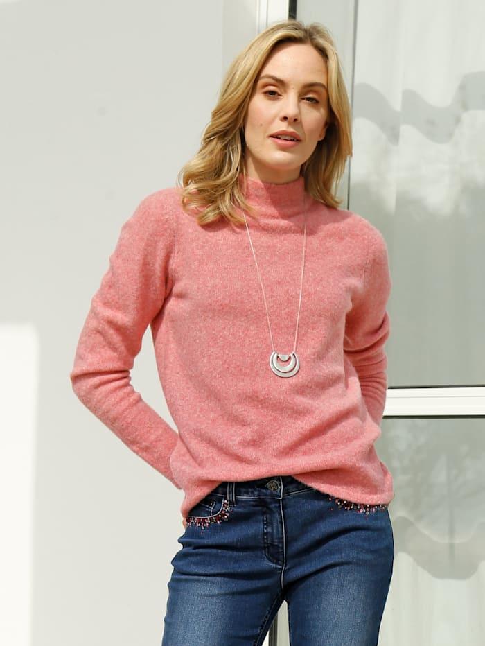 AMY VERMONT Pullover in flauschiger Qualität, Koralle