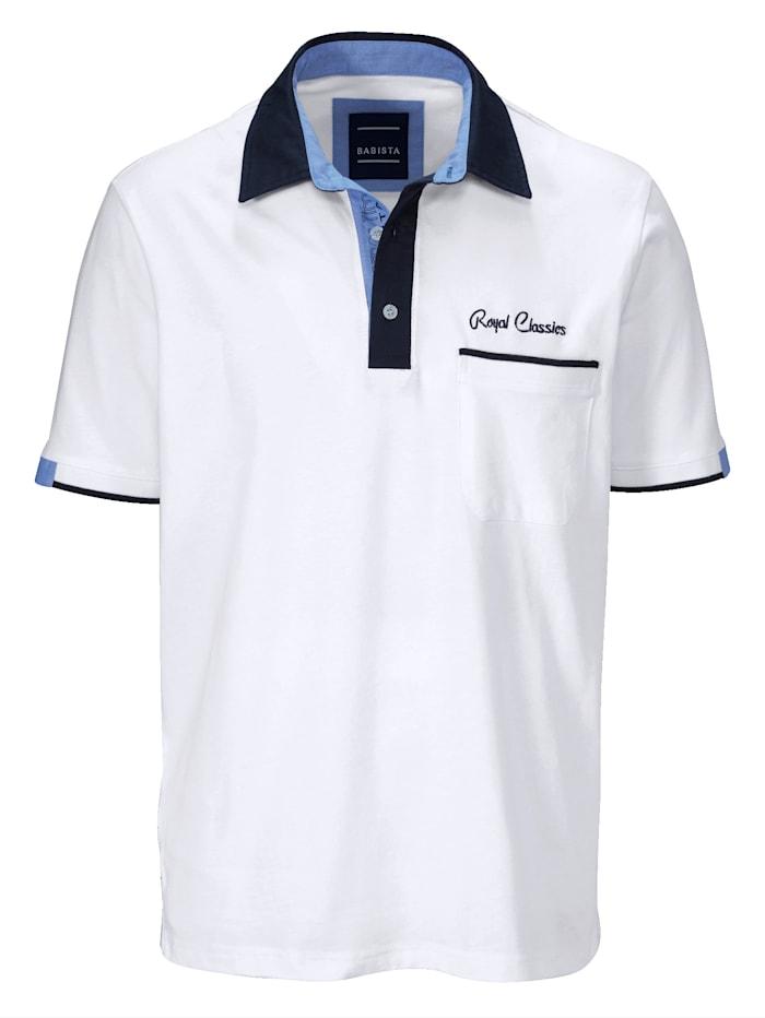 BABISTA Poloshirt met overhemdkraag, Wit